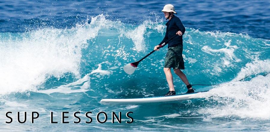 Stand up paddle board lessons in Kona, Hawaii