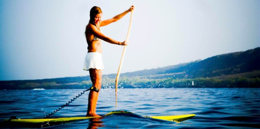 stand up paddle board in kona, hawaii
